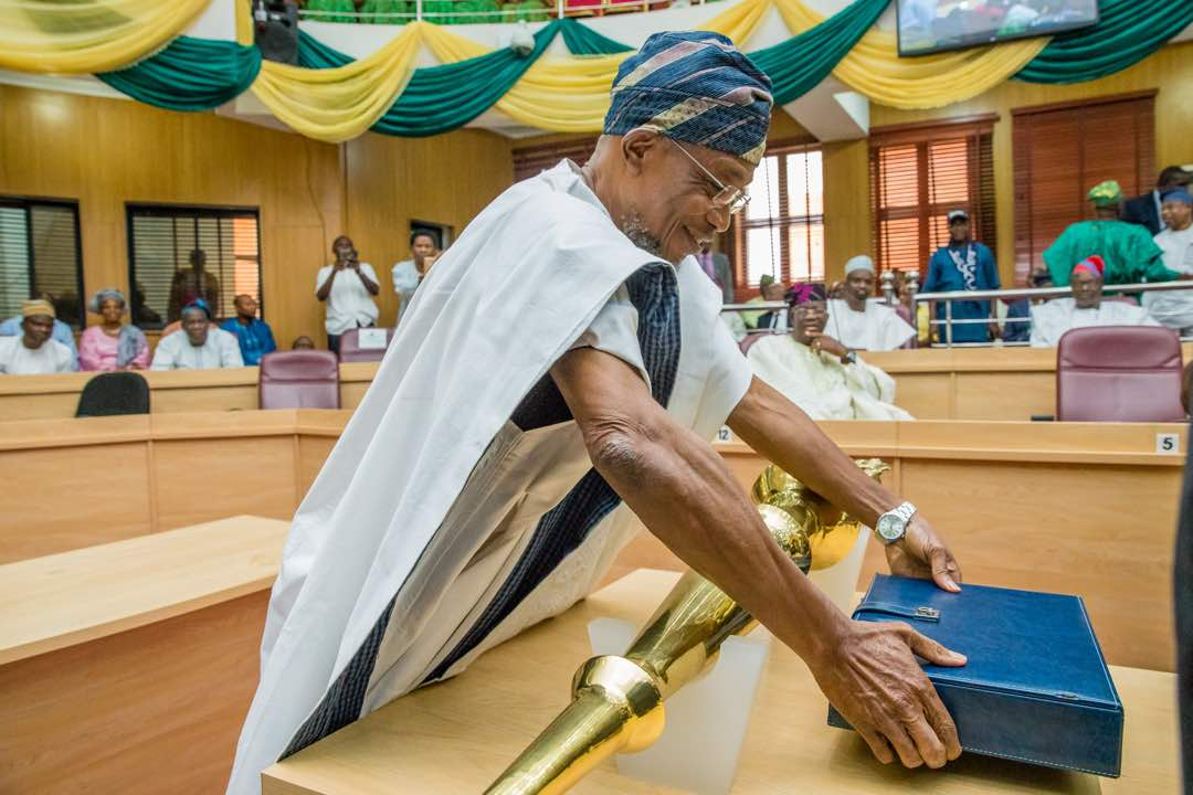 PHOTONEWS: Governor Aregbesola Presents 2018 Budget To Osun Assembly