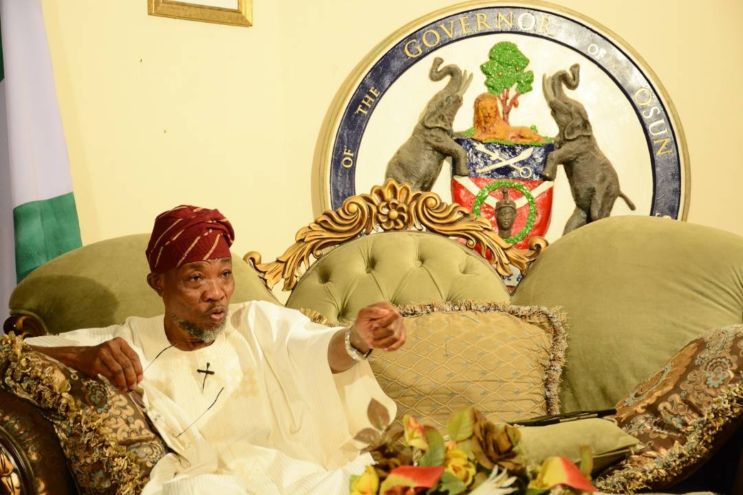 Aregbesola Calls For Robust IGR, Says Osun Needs N10 Billion Revenue Monthly To Thrive