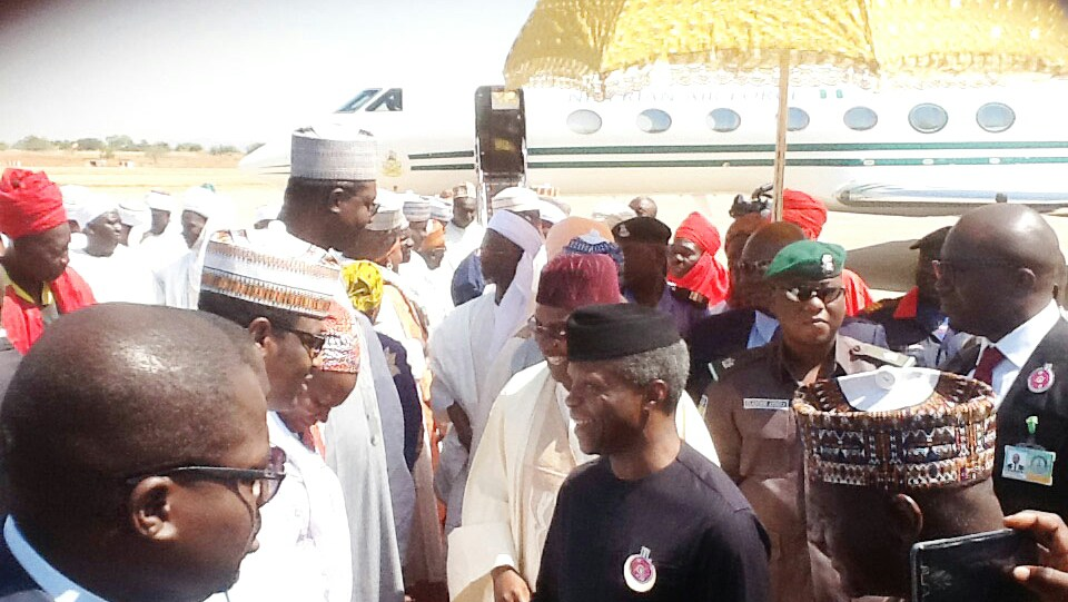 Osinbajo Visits Adamawa, Says FG Is Committed To Nigerians