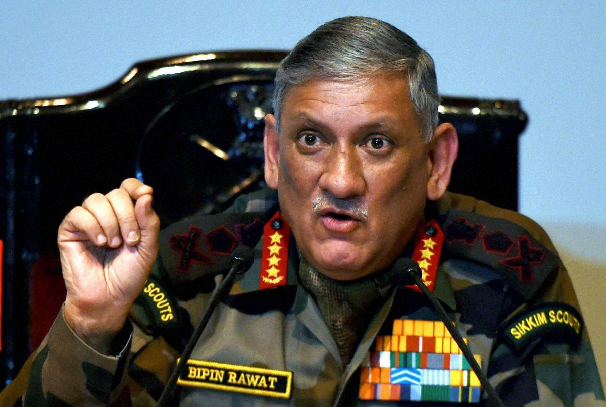 Indian Army Chief Calls For Restrictions On Internet And Social Media