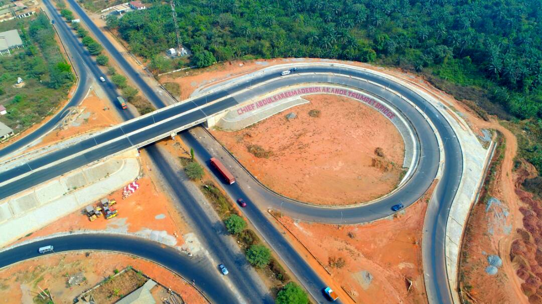 PHOTONEWS: The Newly Opened Adebisi Akande Trumpet Interchange, Gbongan
