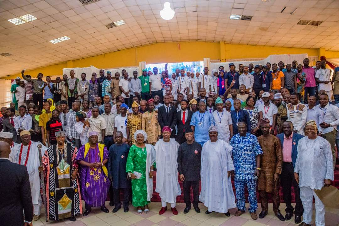 Osinbajo, Aregbesola, Ajimobi Charge Youths On Productivity And Hardwork