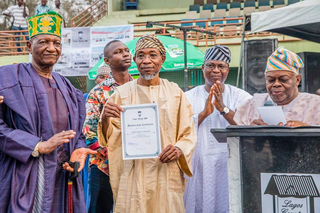 PHOTONEWS: Aregbesola Honoured As Life Member Of Lagos Country Club