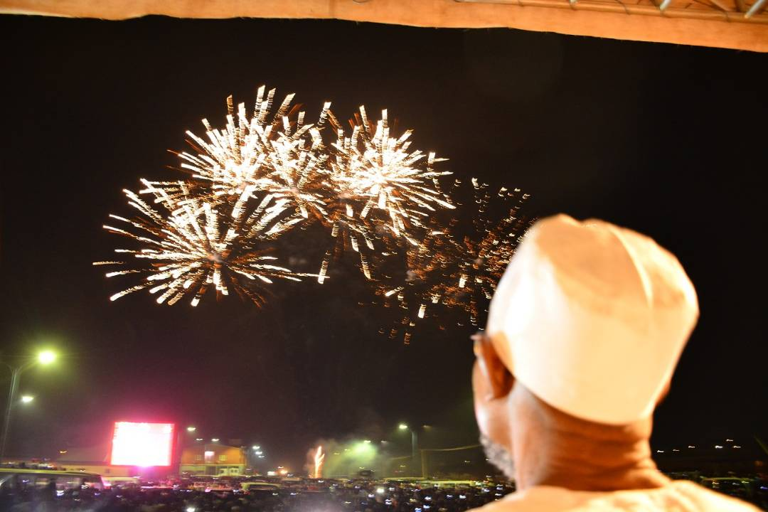 PHOTONEWS: Osun Welcomes 2018 With Electrifying Fireworks