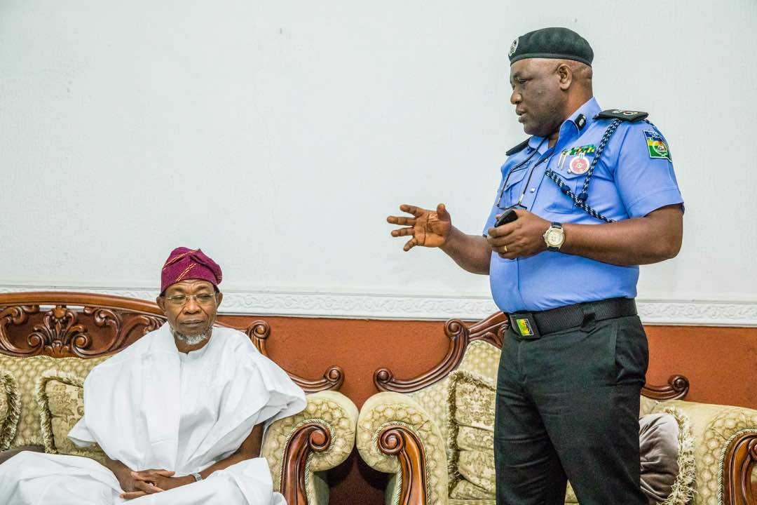 PHOTONEWS: Governor Aregbesola Receives New Assistant Police Commissioner(s)