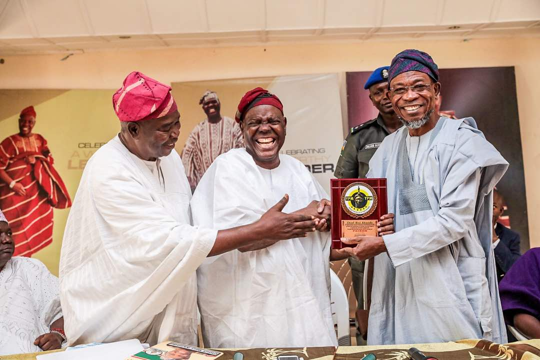 PHOTONEWS: Yoruba Patriots Movement Honour Akande, Aregbesola