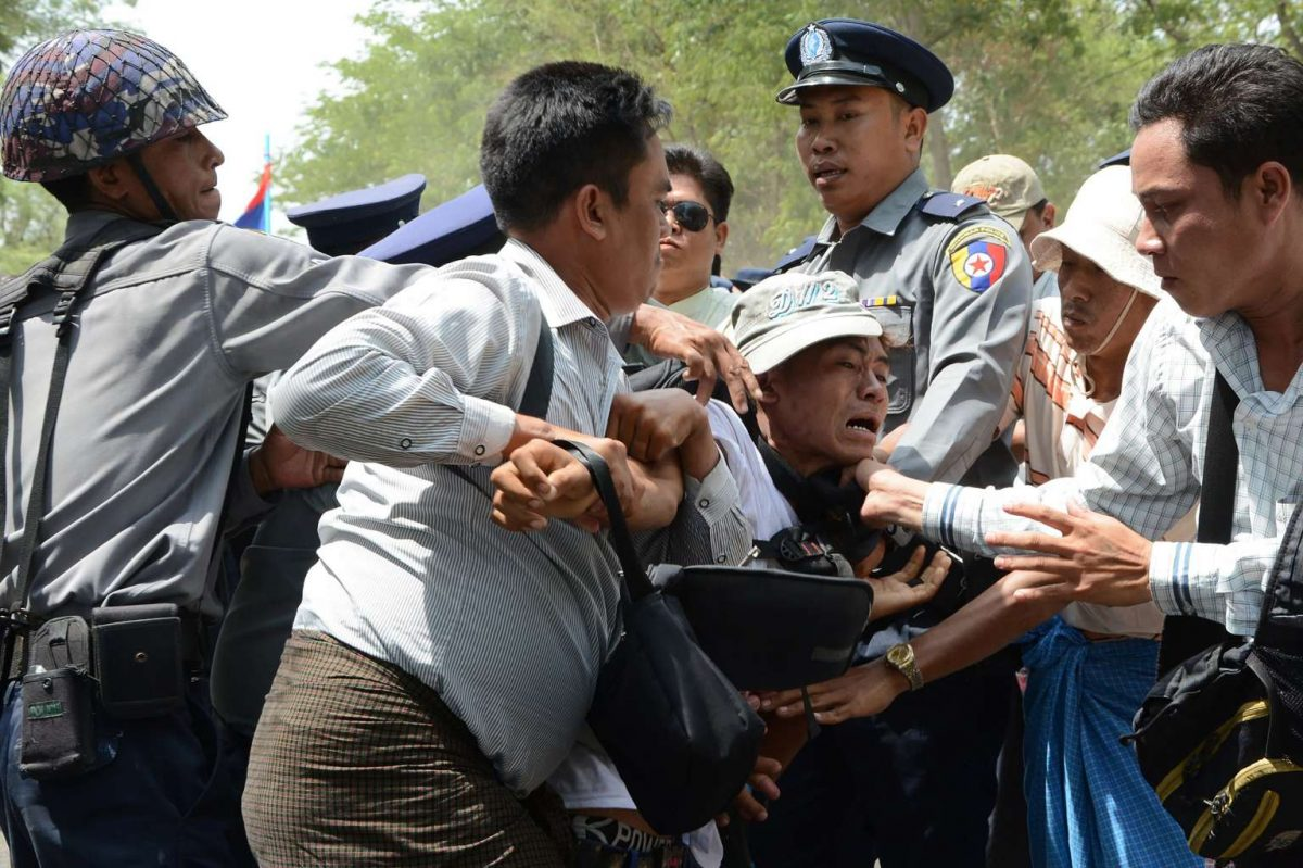 Myanmar Police Opens Fire On Protesters Killing Seven
