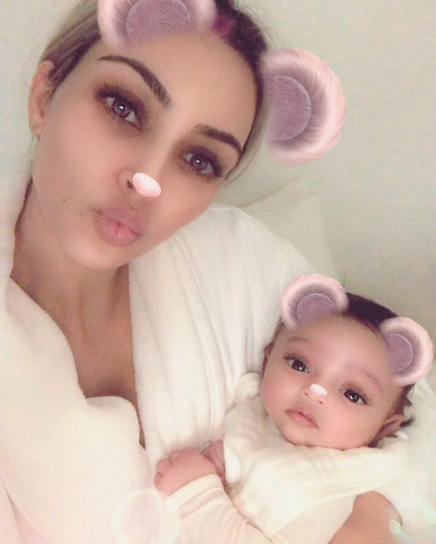 Kim Kardashian Finally Shows Her Daughter's Face