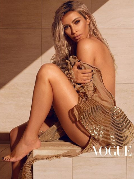 Kim Karadashian Stuns On Vogue India's Cover
