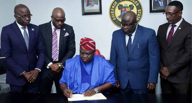 Ambode Signs N1.046trn 2018 Budget Into Law