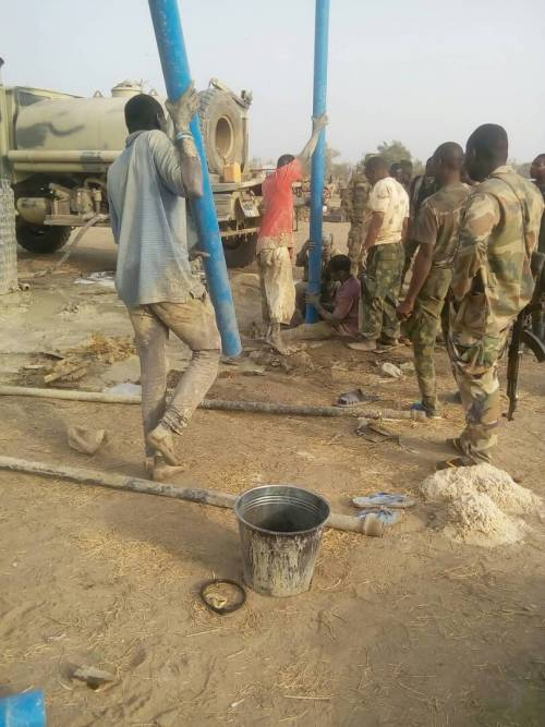 Nigerian Army Consolidates Success In Sambisa Forest, Builds Borehole For Troops