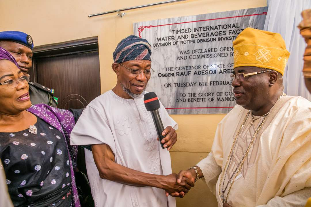 PHOTONEWS: Aregbesola Commissions Timsed Companies In Osun