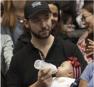 Alexis Ohanian On Daddy Duty While Serena Played