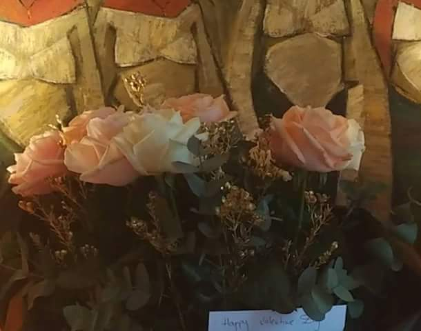 Valentine Stories: Bukola Saraki Gives His Wife Roses