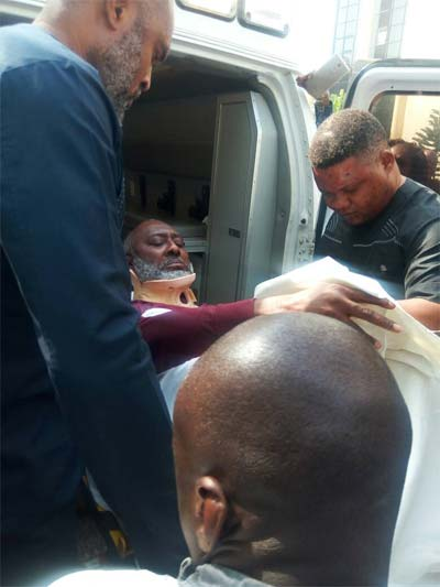 BREAKING: Olisa Metuh Arrives Court On A Stretcher