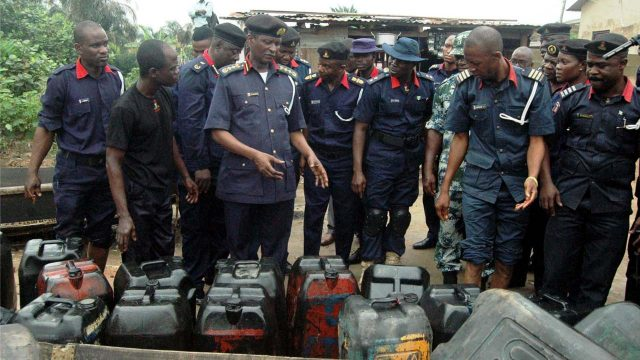 NSCDC Nabs 4 Suspects, Destroys 200,000 Litres Of Petroleum Products In Ondo