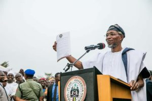 Aregbesola Harps On Sensitivity To Public Feelings, Improvement Of IGR As He Swears-in Councillors
