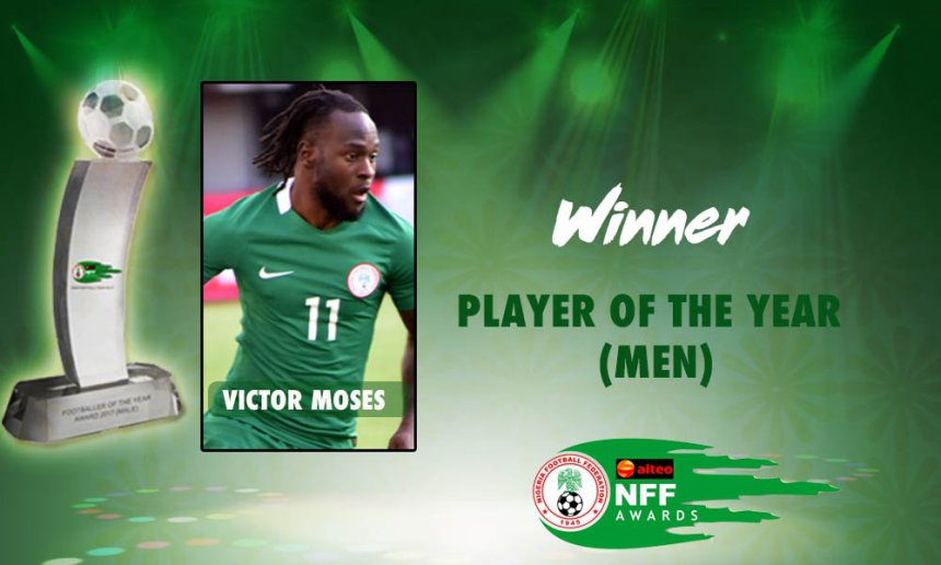 FIFA Congratulates Moses On Aiteo/NFF Player of the Year Award