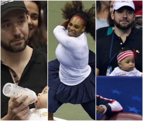 Serena Williams' Husband Babysits As Wife Returns To Court