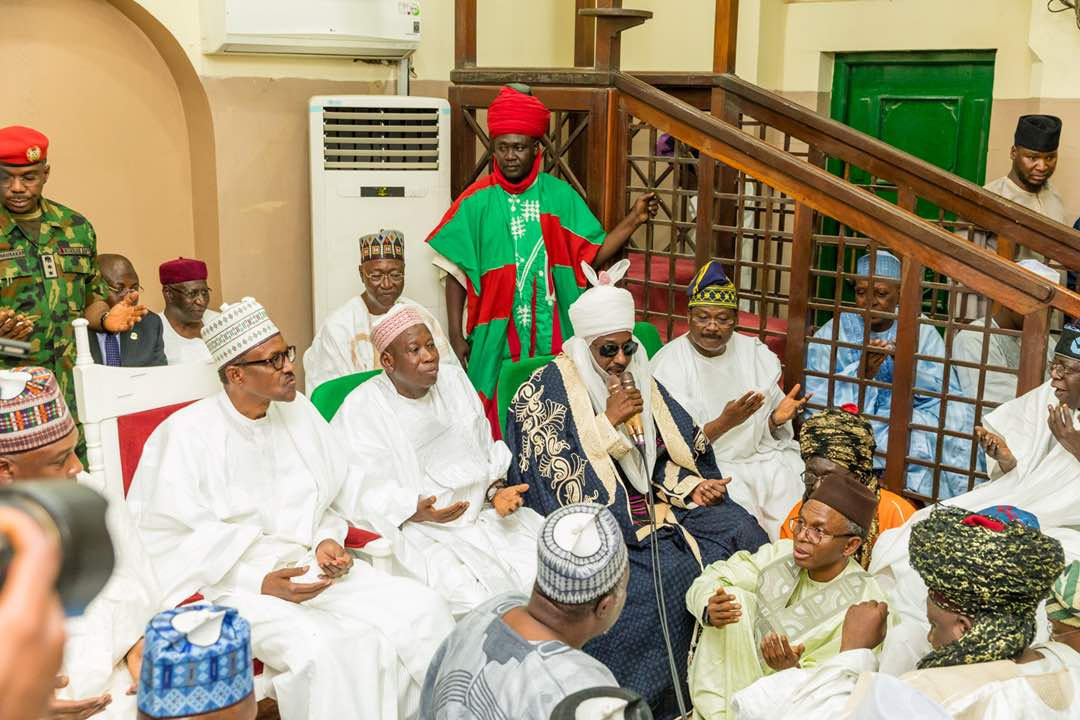 PHOTONEWS: Buhari, Tinubu, Saraki, Aregbesola Attend Ajimobi's Son Wedding In Kano