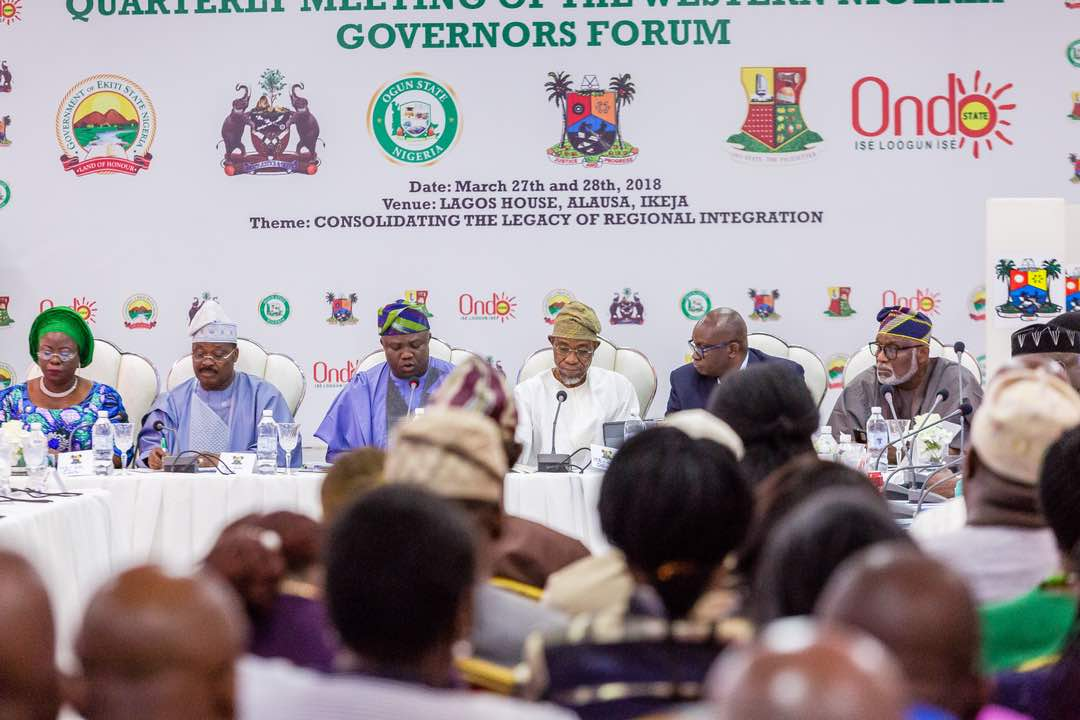 PHOTONEWS: Aregbesola Attends Western Nigeria Governors Forum Meeting