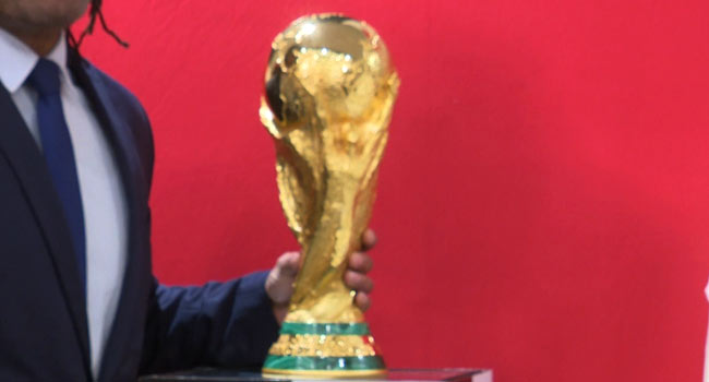 FIFA World Cup Trophy Arrives Nigeria