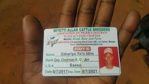Deputy Chairman of Miyetti Allah ID Card Found At Crime Scene
