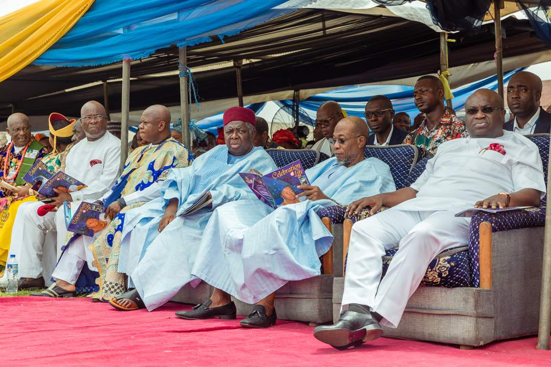 PHOTONEWS: Aregbesola Attends Mrs Emenike's Burial