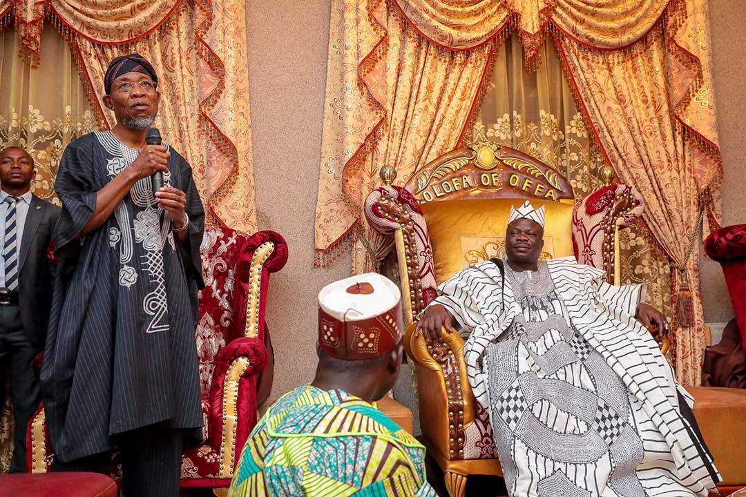 PHOTONEWS: Aregbesola Commiserates With Olofa Over Bloody Bank Robbery
