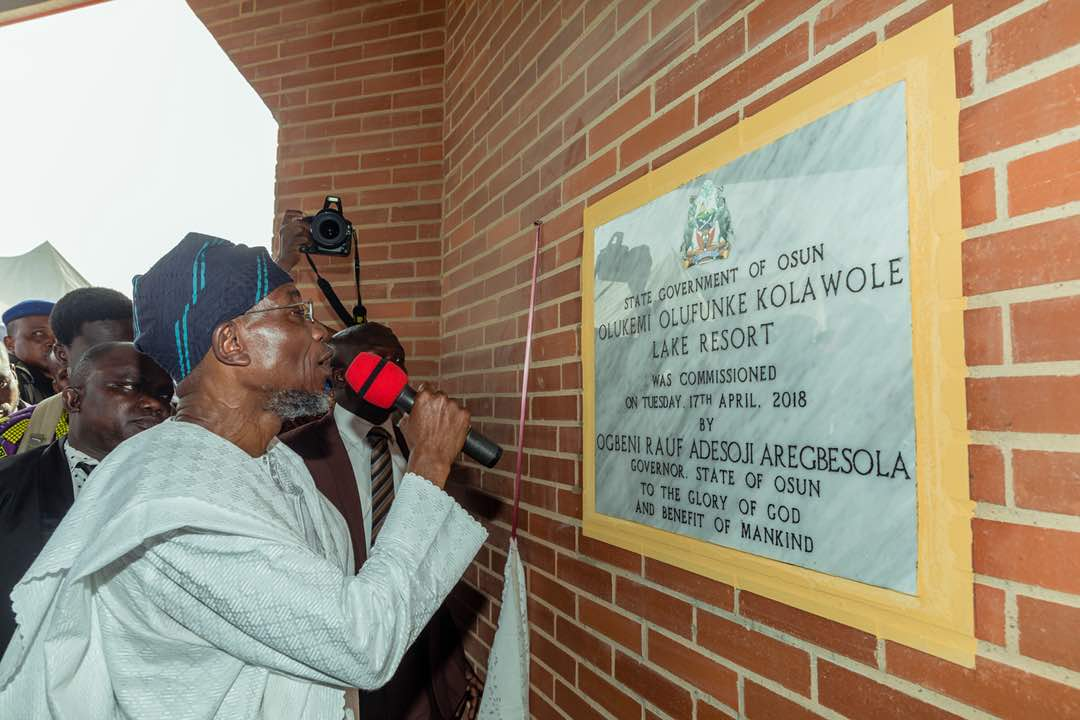 PHOTONEWS: Aregbesola Commissions Late Olufunke Kolawole Resort