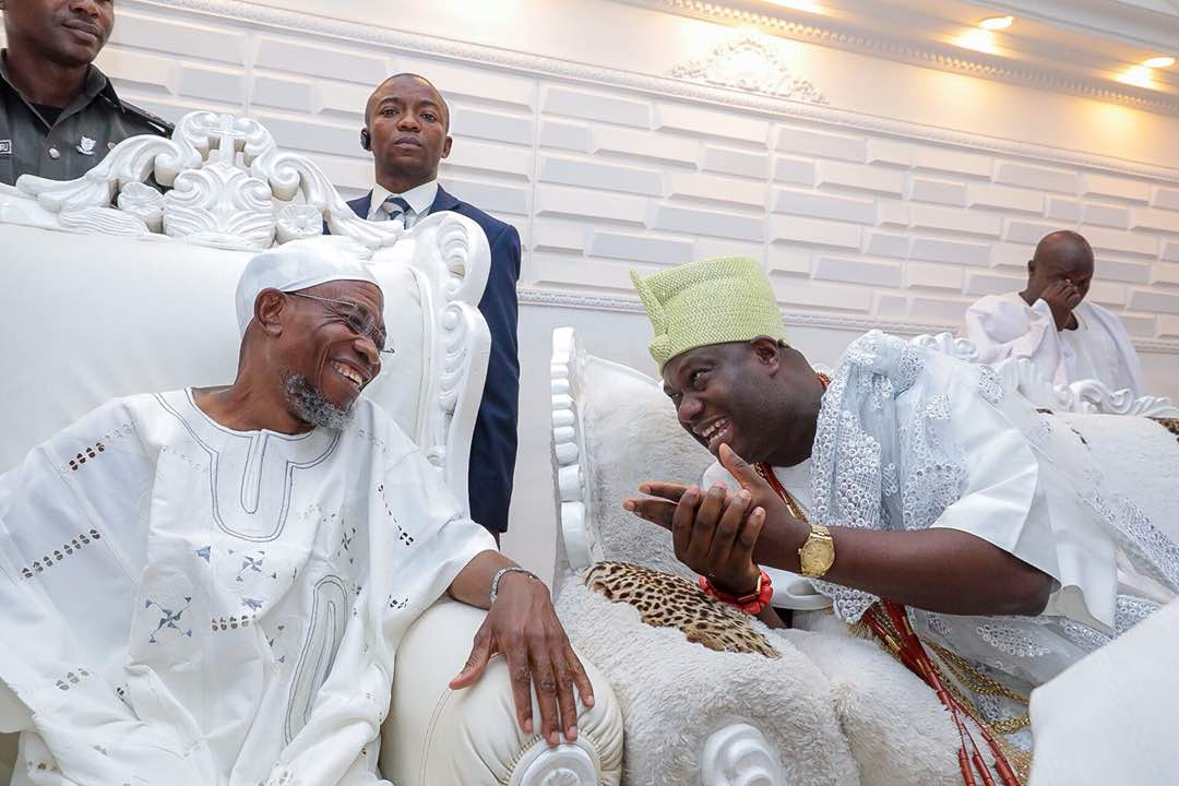 Ooni Gives Aregbesola Pass Mark For Fulfilling Promises To People