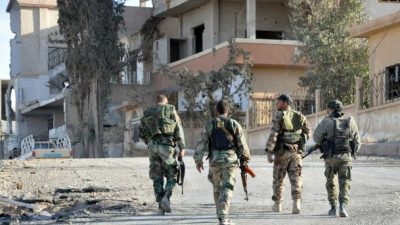 Syrian Army Continues Strike On Southern Damascus