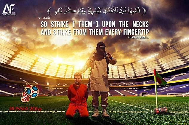 ISIS Terrorists Hints Attack On World Cup in Russia