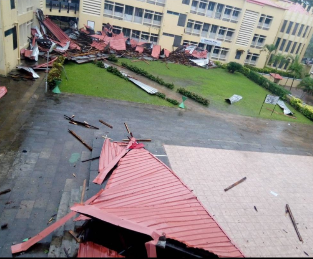 Unilag's Famous Moremi Hall Destroyed After Heavy Rain