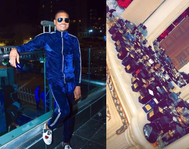 Shina Peller Showcases His Cologne Collection