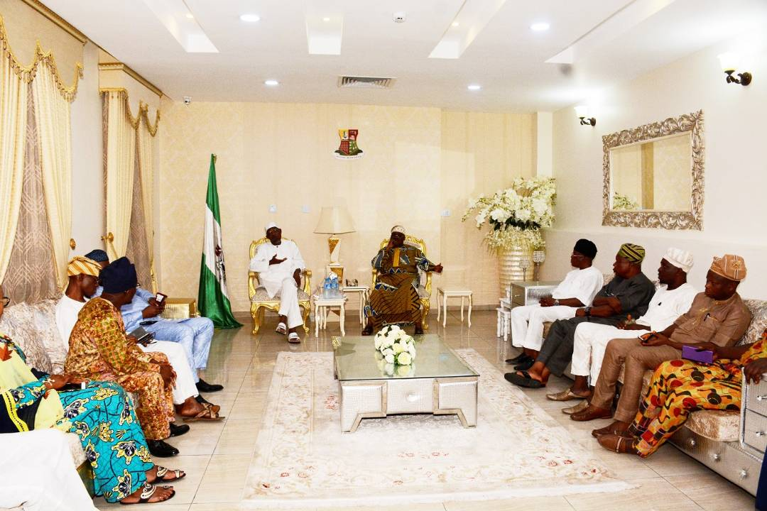 PHOTONEWS: Osun Govt Pays Condolence Visit To Oyo Over Speaker's Death