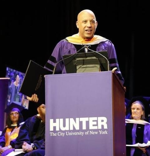 Vin Diesel Receives Honorary Doctorate Degree From Hunter College In New York