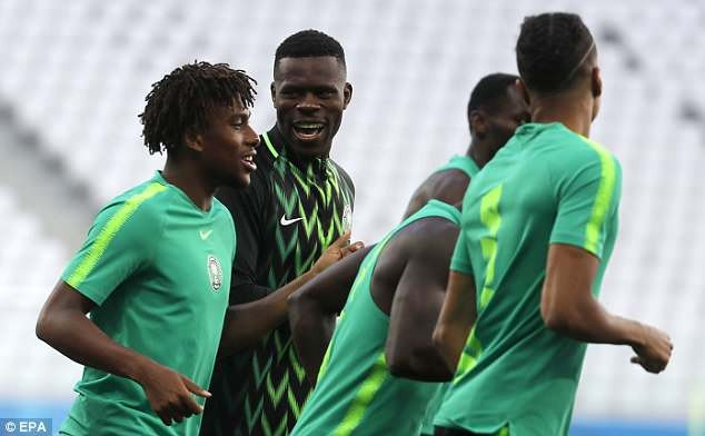 PHOTOS: Super Eagles Pictured Training Ahead Of Match With Iceland