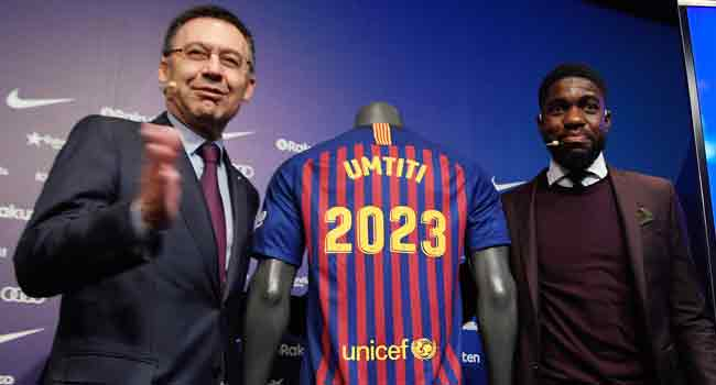 Umtiti Signs $586m New Barca Deal
