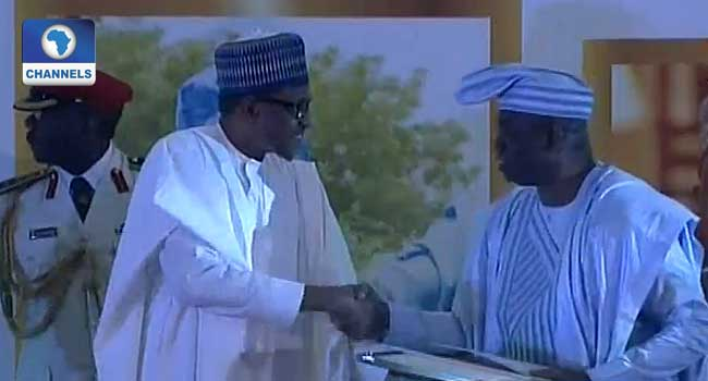 Buhari Officially Confers GCFR Title On MKO Abiola