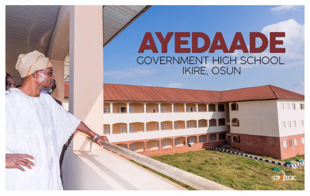 Aregbesola Set To Commission Ayedaade Government High School, Ikire