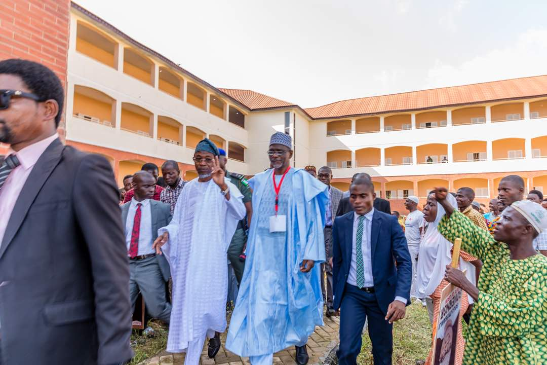 PHOTONEWS: Aregbesola, Adamu Commission Ayedaade High School, Ikire