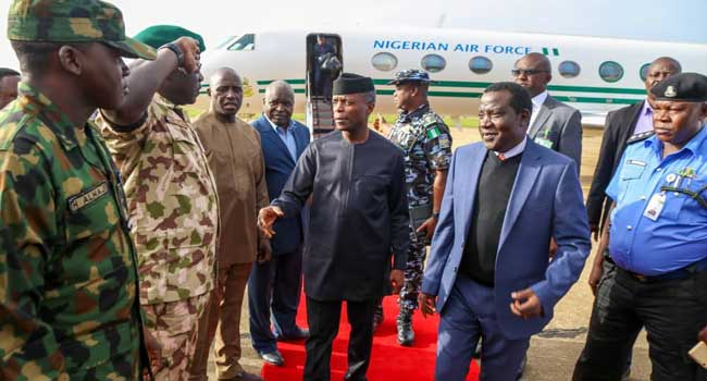 Osinbajo Visits Plateau State Over Deadly Attacks, Killings