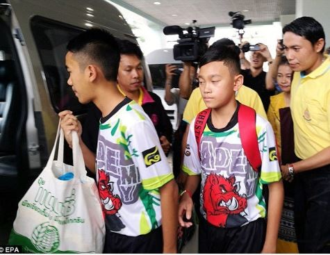 Thai Boys And Their Soccer Coach Rescued From A Flooded Cave Rescued
