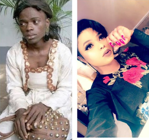 Bobrisky Proudly Flaunts Throwback Picture To Emphasis His Recent Success
