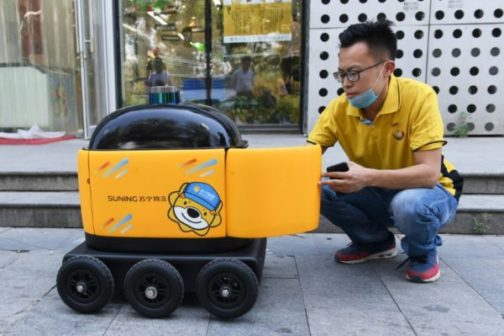 China Replaces Delivery Men With Robots
