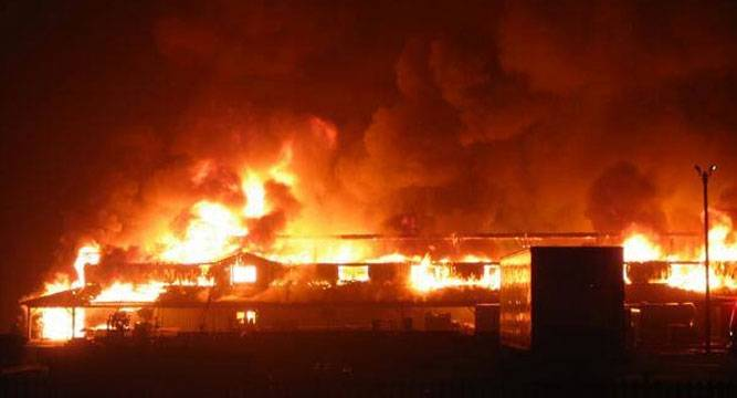 Breaking: Fire Guts Osun Gov Office, Put Off