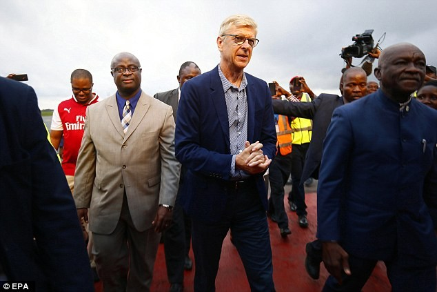 Arsene Wenger Arrives Liberia To Receive Special Award